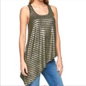Juicy Couture Metallic Asymmetrical Top